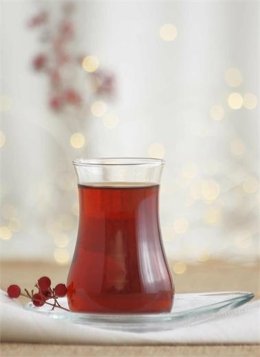 Lav Eva Çay Takımı Çay Seti - Çay Bardağı Ve Tabağı 24 Prç.12 Kişilik Renkli